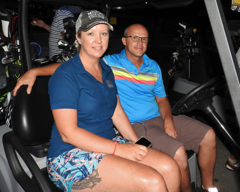 Sherry Sichting and husband Brad ready to take on the course