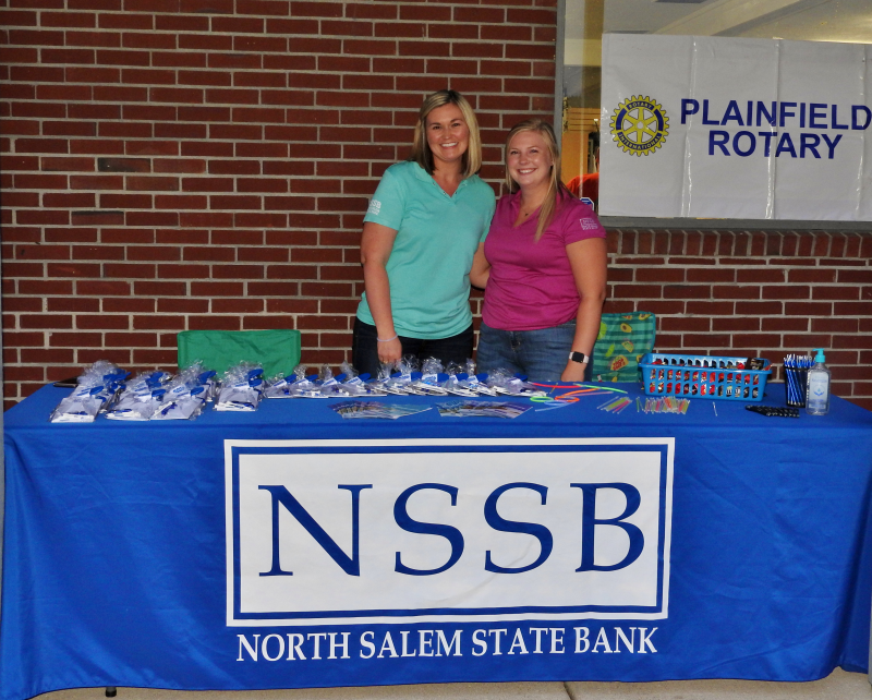 Ashley Threlkel and Morgan Jones from North Salem State Bank...Thanks for being an Event Sponsor!